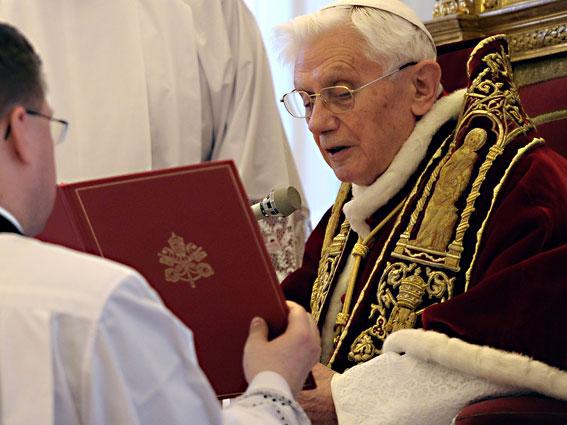 la rinuncia al Pontificato di Papa Benedetto XVI