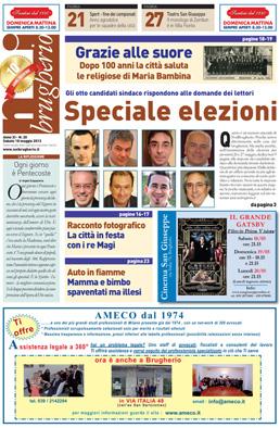 prima pagina 18 maggio 2013