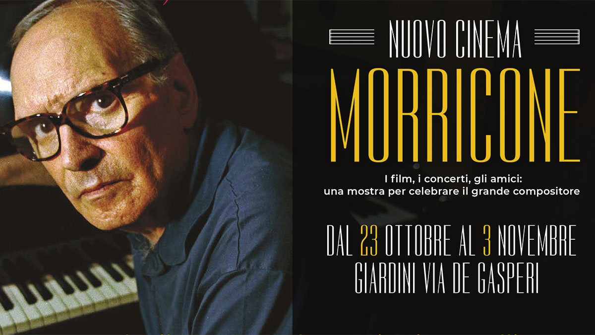"""Parte della locandina della mostra """"Nuovo cinema Morricone"""""""